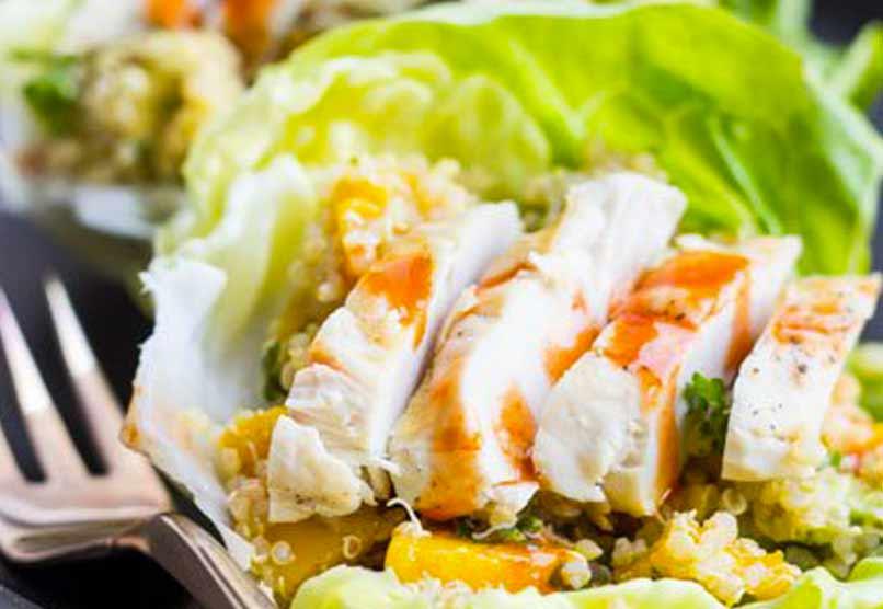Tropische Sla Wraps met Quinoa – 170 Calorieën