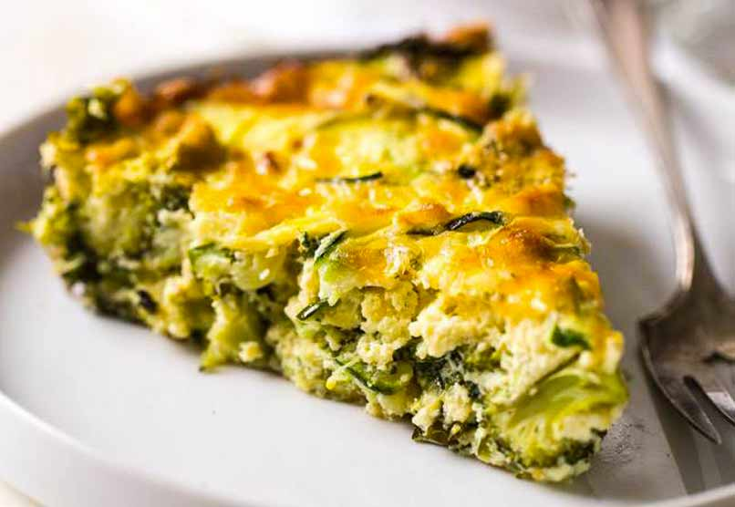 Broccoli, Boerenkool en Kaas uit de oven gemaakt met Courgette Noedels