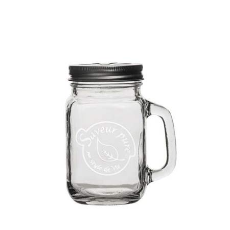 Mason Drinking Jar 480ml Saveur Pure