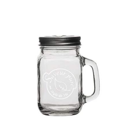 Mason Drinking Jar 480ml Saveur Pure