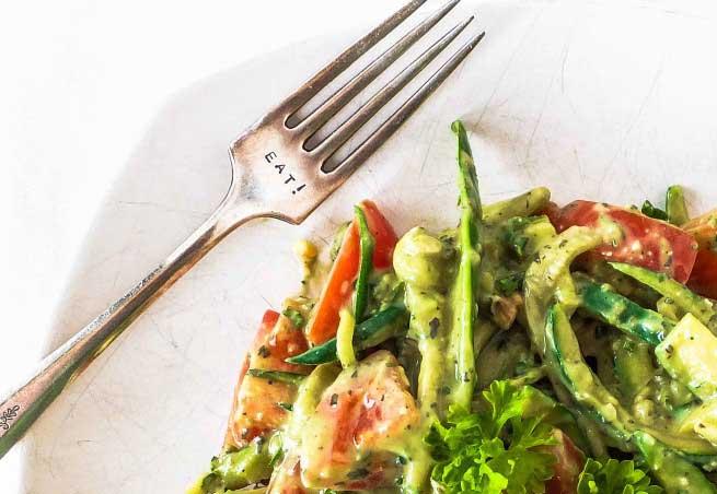 Courgette Pasta Recept, Lekker Romig 380 calorieën