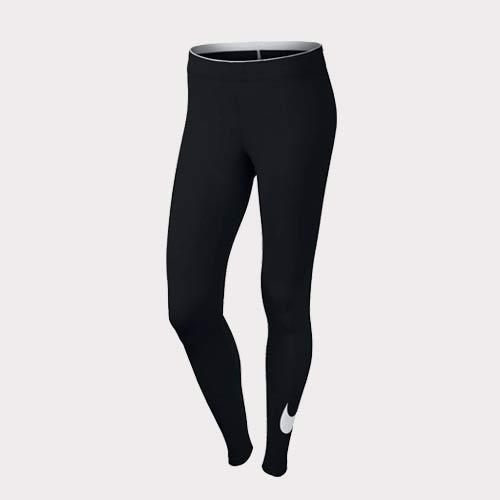 Nike Sportswear Legging Club Logo2 815997-010 Sportlegging - Dames- Maat S - Black/White Vastendieet Workout