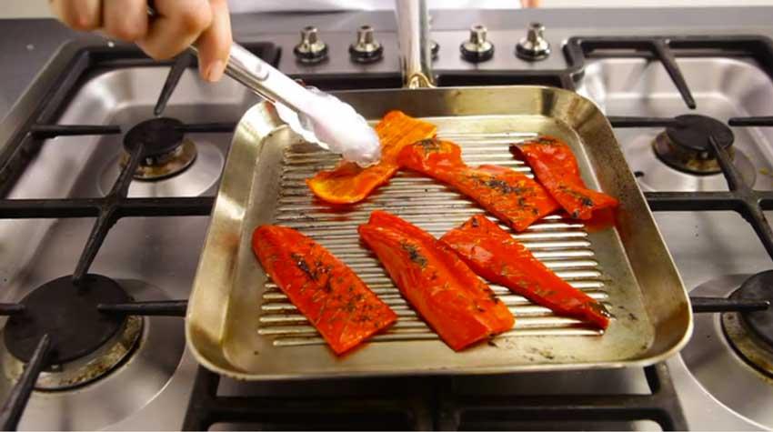 Paprika Grillen in de Oven of in een Grillpan