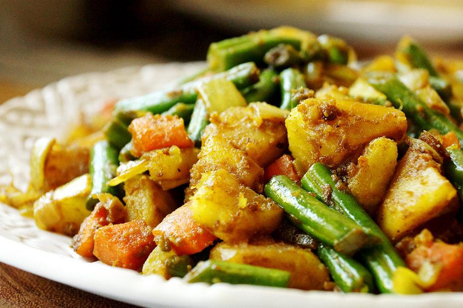 caloriearme vegetarische curry: 150 calorieën per portie